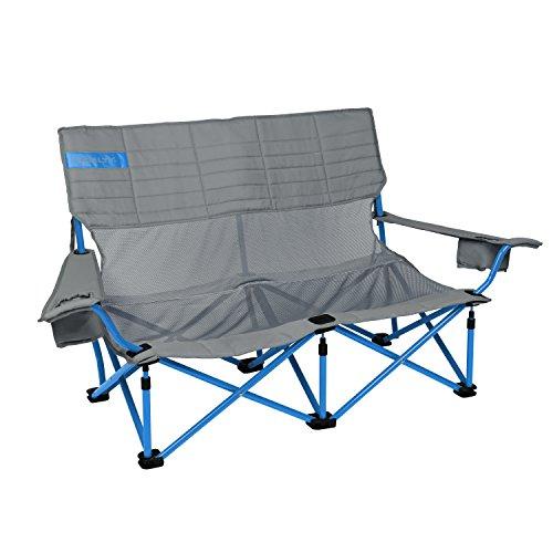 Kelty Low-Love Mesh Camp Chair, Smoke/Paradise Blue