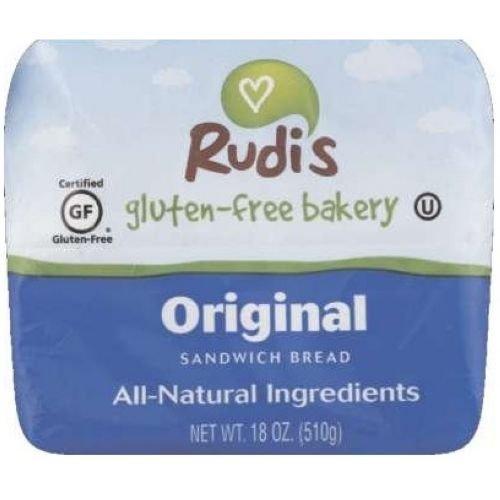 Rudis Gluten Free Original Sandwich Bread, 18 Ounce - 8 per case.