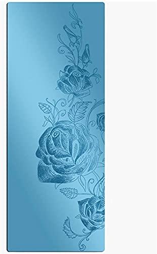 LSLS Esterilla De Yoga 5mm Alfombrillas de Yoga de 5 mm de Caucho Natural Aislado Profesional de Yoga alfombras de Yoga Pilates y colchoneta del Ejercicio del Piso con Correa Esterilla Fitness