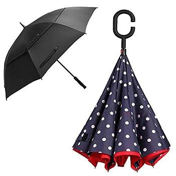 BAGAIL 62 Inches Golf Umbrella+Hand Free Inverted Umbrella