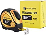 The Professional 26-Foot Inch/Metric Scale Power Tape, Automatic-lock Steel Tape Measure, Heavy Duty Measuring Tape, All-use Steel Tape (gold)