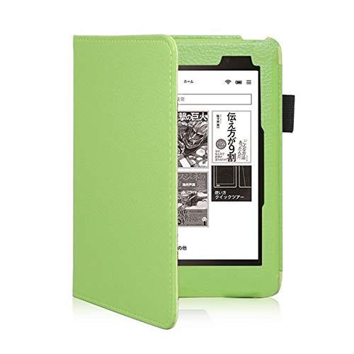 RZL Pad y Tab Fundas para Kobo Aura One, protecive Shell Auto Sleep Funda Delgada Soporte magnético Cubierta de Cuero para Kobo Aura 7.8 Pulgadas eBook (Color : Green Full Wrap)