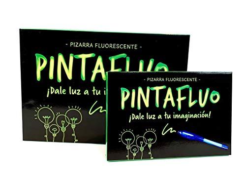Pintafluo Pizarra Mágica Infantil para Dibujar con luz, A4