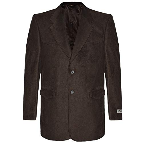 Victory Outfitters Men's Western Microsuede Sport Coat - Brown - 48 Long