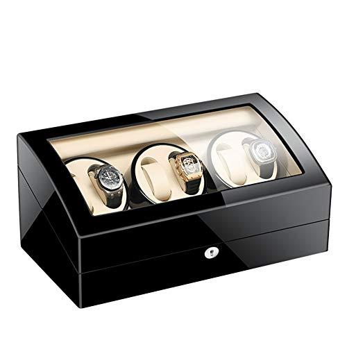 Zatnec Watch Winder Box Caja Relojes Automaticos Silenciosos,Cajas Giratorias para Relojes (para 6+7 Relojes) Caja Guardar Relojes Mecánicos (Size : A)
