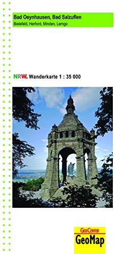 Bad Oeynhausen, Bad Salzuflen Wanderkarte 1:35 000: Bielefeld, Herford, Minden, Lemgo