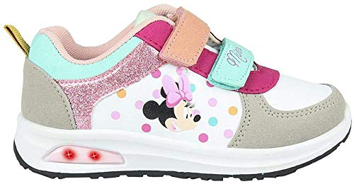 CERDÁ LIFE'S LITTLE MOMENTS Cerdá-Zapatilla con Luces Minnie Mouse de Color Arcoíris, Niñas, 28 EU
