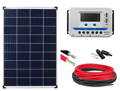 enjoysolar® Solar Set BasicSET Polykristallin 100Watt 12V VS3024AU Wohnmobil