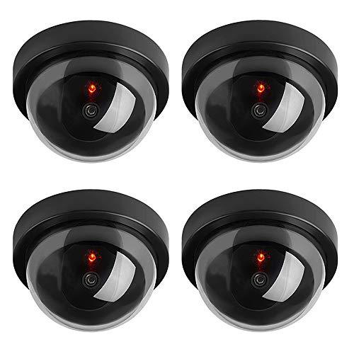 ELEAR™ 4 X Negro cúpula exterior Dummy Fake LED parpadea, cámara de vigilancia, CCTV, vigilancia de seguridad
