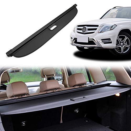 OREALTOOL Laderaumabdeckung Kofferraum Schutz Abdeckung Cargo Cover für Mercedes-Benz GLK 300 2008-2015 Schwarz Ausziehbar Kofferraumabdeckung Rollo