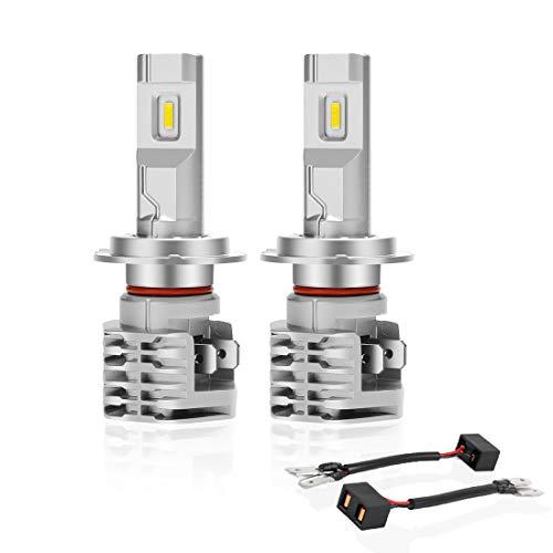 H7 LED Lampadina 6500K Per Fari Auto Luce Abbagliante Anabbagliante,Portalampada orientabile Sostituzione Lampada Alogena E Fari Allo Xenon(2 pezzi)