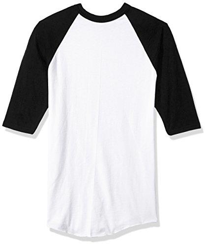 Augusta Sportswear Jungen Baseball-Trikot, Unisex-Kinder Jungen, Boys Baseball Jersey, Medium, White/Black, weiß/schwarz, Medium