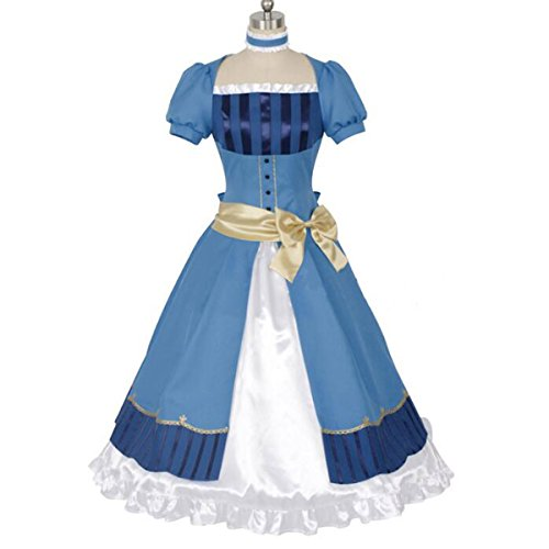 Poetic Walk New Black Butler 3 Elisabeth Kuroshitsuji Elizabeth Princess Cosplay Dress (Medium, Blue Set)
