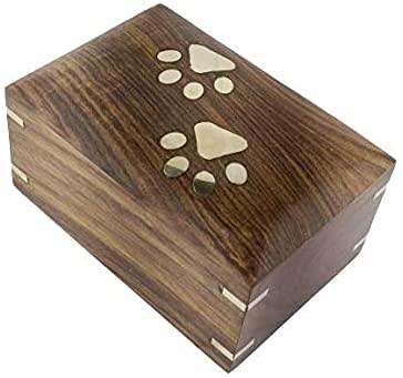 Indian Glance Rosewood Pet Urn Box - Peaceful Pet Memorial Keepsake Urn for Dogs,Cats (Medium1 : 7.5