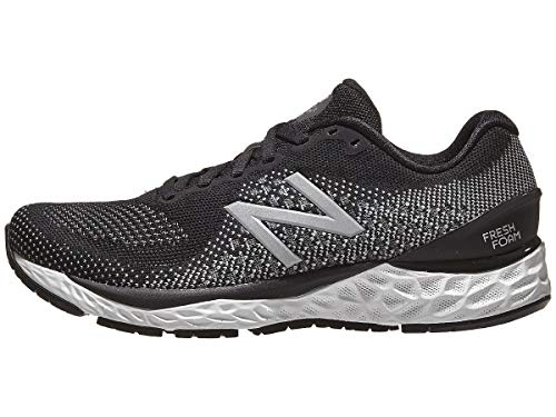 New Balance Women's Fresh Foam 880v10, Black/White, 10.5 Medium