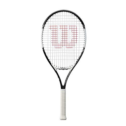 Wilson, Kinder/Jugend-Tennisschläger, Roger Federer 25, Schwarz/Rot, Für Kinder und Jugendliche mit einer Körpergröße von 130 bis 145 cm, WRT200800
