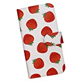 iPhoneX アイフォン スマホケース 手帳型 プリントケース スマホ イチゴ フルーツ 果物 パター……