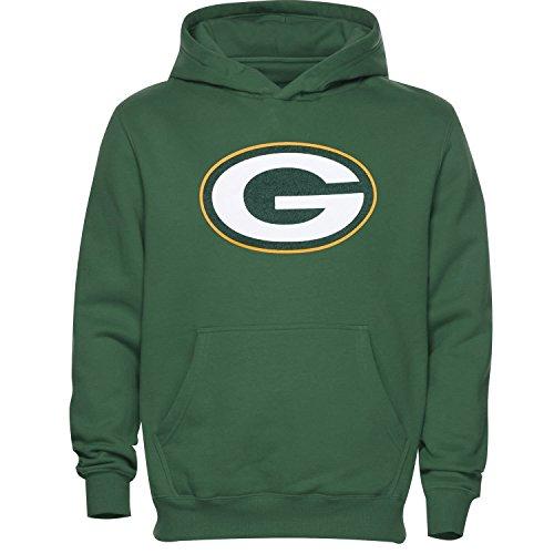 Green Bay Packers Kids Primary Logo Green Fleece Pullover Hoodie (Kids 5/6)