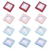 NBEADS Caja de Cartón para Pulseras Y Brazaletes, Cuadrada, Colores Mezclados, 9 X 9 X 2 Cm
