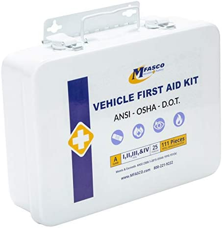 Vehicle First Aid Kit DOT ANSI Approved Metal Kit product image