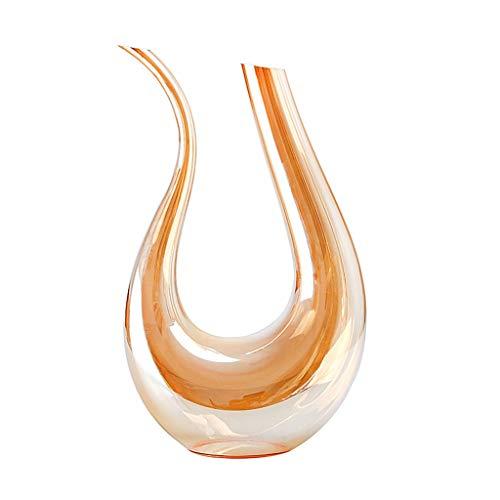 1,5L Carafe à Décanter le Vin en Cristal Carafe à Vin Rouge Avec 4 Verres à Vin Rouge (530Ml) - 100% Verre Sans Plomb Soufflé à La Main, Bouteille de Whisky, Cadeaux de Vin, Accessoires de Vin
