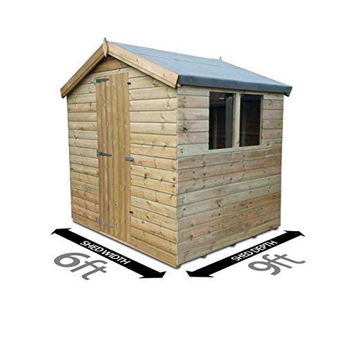 Total Sheds 9ft (2.7m) x 6ft (1.8m) Shed Apex Shed Garden Shed Timber Shed