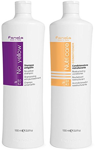Fanola No Yellow shampoo 1000 ml + Fanola Nutri Care conditioner 1000 ml