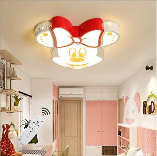 LLDS Lampara Infantil Plafón Redondo Simple Para Dormitorio Moderno Lámpara Decorativa Mickey Mouse Niño Niña Dibujos Animados Plafón Nórdico LED Pantalla De Acrílico