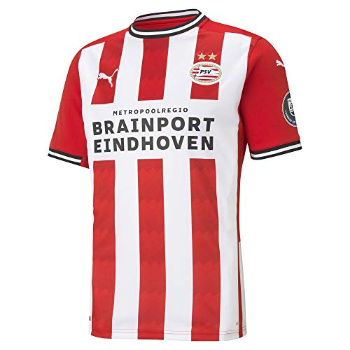 Puma Herren PSV Home Shirt Replica with Sponsor Trikot, High Risk Red White, L