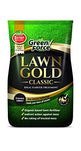 Lawn Gold Fertilizer, MossLawn Gold Organic Based Lawn Fertilizer & Moss Remover 10kg, Grey