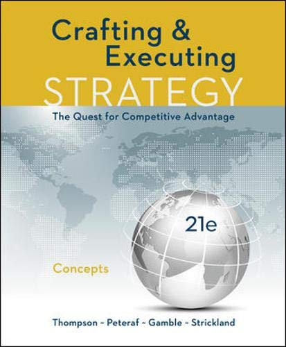 Download CRAFTING AND EXECUTING STRATEGY: CONCEPTS 1259899691