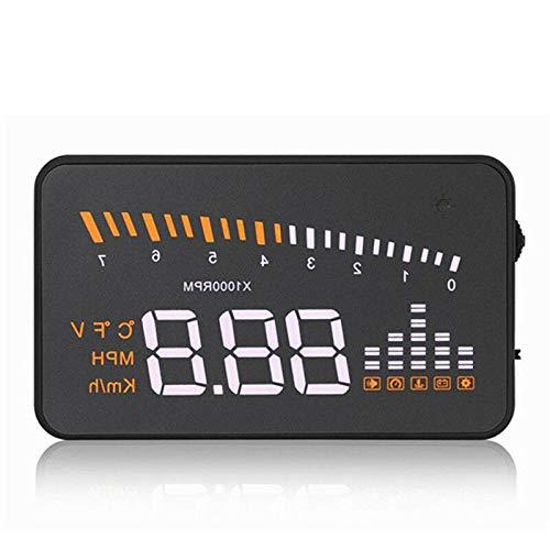 Display HUD per auto, Riloer Car Head Up Display Proiettore Tachimetro digitale con display HD da 3 pollici, Interfaccia OBDII/EOBD, Temperatura dell'acqua, Tensione, Allarme di velocità eccessiva