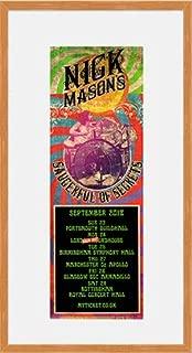 Nick Manson's Saucerful of Secrets - September Tour Dates 2018 (Oak Veneer Frame) Framed Mini Poster - 40x23cm