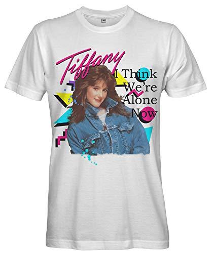 Ladies White Tiffany 80s Pop Star T-shirt