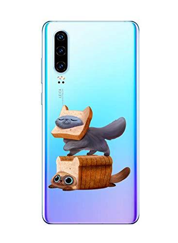 Oihxse Funda Huawei P9, Ultra Delgado Transparente TPU Silicona Case Suave Claro Elegante Creativa Patrón Bumper Carcasa Anti-Arañazos Anti-Choque Protección Caso Cover (A2)