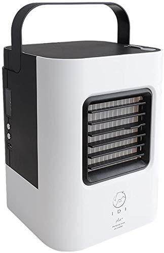 miwaimao Ventilador de Mesa Ventilador Ultra portátil Silencio por evaporación Personal Compacto de Oficina, Dormitorio B 13x13x17cm (5x5x7),VS,13x13x17cm (5x5x7)
