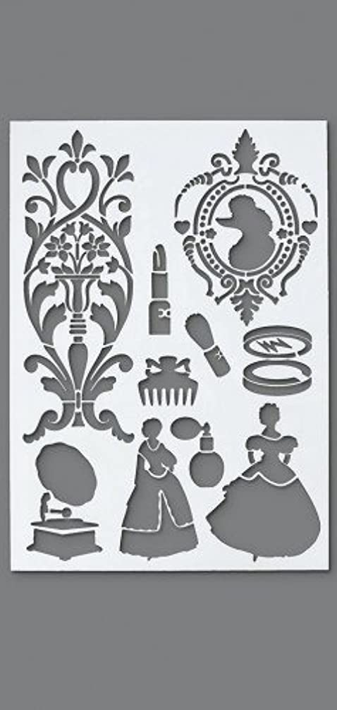 Efco Vintage Stencil in 10 Designs, Plastic, Transparent, A4