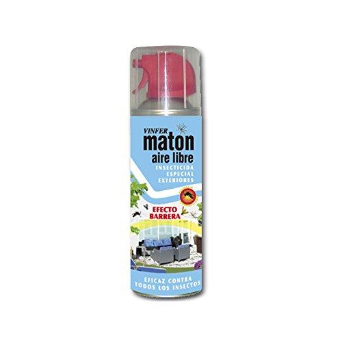 VINFER Insecticida Matón Aire libre. Insecticida especial exteriores. Aerosol 400 ml. Eficaz contra todos los insectos