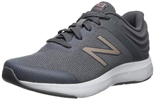 New Balance Women's Ralaxa V1 CUSH + Walking Shoe, Lead/Champagne Metallic/Gunmetal, 9 B US