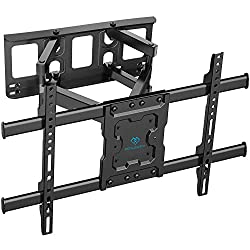 """ULTRA STRONG TV WALL BRACKET - Our TV bracket is constructed from high quality steel materials and fits most 37-70"""" TVs weighing up to 60kg. Solid and sturdy TV bracket with compatible faceplate that fits VESA 600x400/400x400/400x300/400x200/300x300/..."""