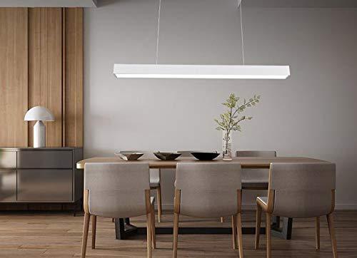 36w LED, altezza regolabile del pendente del candeliere del pendente del soffitto. Moderna per la sala da pranzo, salone e ristorante, ufficio, sala per conferenze, (36W-Bianco)
