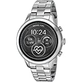Michael Kors Women's Access Runway Touchscreen Watch with Stainless Steel Strap, SilverTone, 17 (Model: MKT5044)