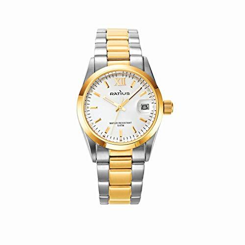 Ratius Damen Uhr 22.50890MBI.25 Bicolor mit Datumsanzeige