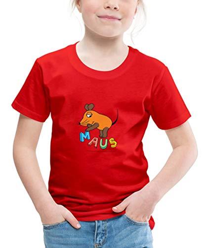 Die Sendung Mit Der Maus Buchstaben Kinder Premium T-Shirt, 134-140, Rot