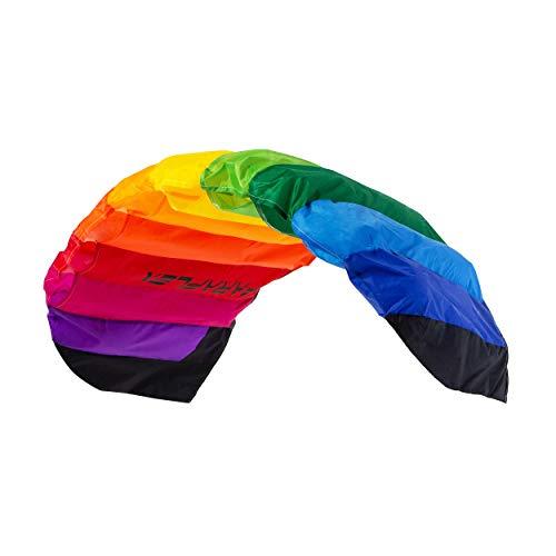 Wolkenstürmer Paraflex Basic 1.2 Lenkmatte, Regenbogen - Flugfertiger 2-Leiner Kite für Anfänger und Kinder