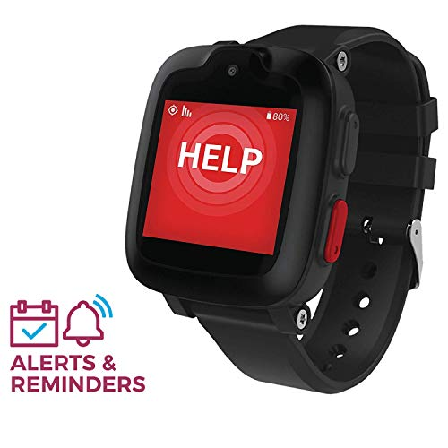 Freedom Guardian Mobile Watch Medical Alert System by Medical Guardian - GPS Bracelet, Emergency Location Device, 24/7 Alert Button for Seniors, Nationwide AT&T Cellular (1 Month Free) (Black)