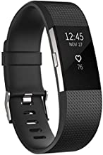 Fitbit charge2 Silicone Rubber Band Strap Wristband Large Size Black,127mm+93mm