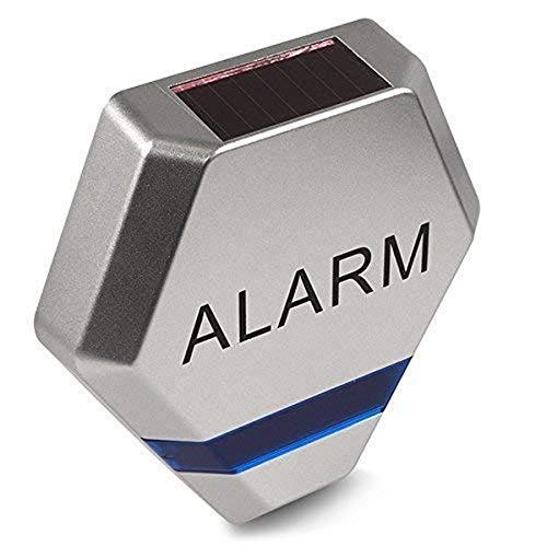Maclean–Finta sirena di allarme antifurto a diodi a LED intermittenti, pannello solare di vigilanza