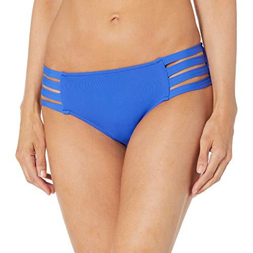 Seafolly Women's Multi Strap Hipster Full Coverage Bikini Bottom Swimsuit, Active Cobalt, 12 US
