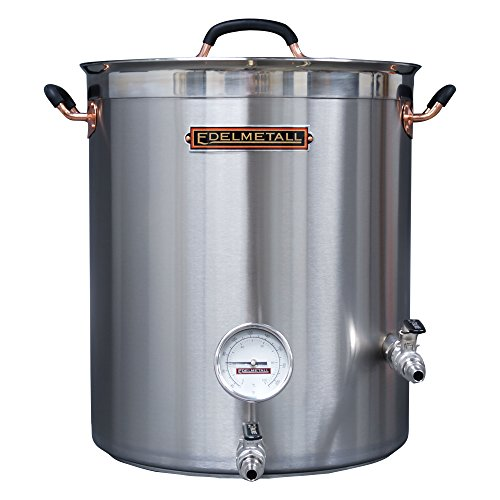 Northern Brewer Edelmetall Brü Kettle with Valve Bulkhead, Whirlpool Port & Thermometer - 30 gal.